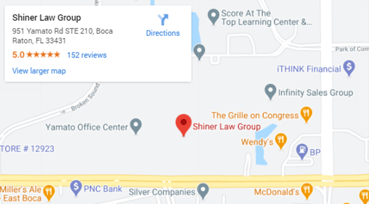 Shiner Law Group Boca Raton Personal Injury Lawyers